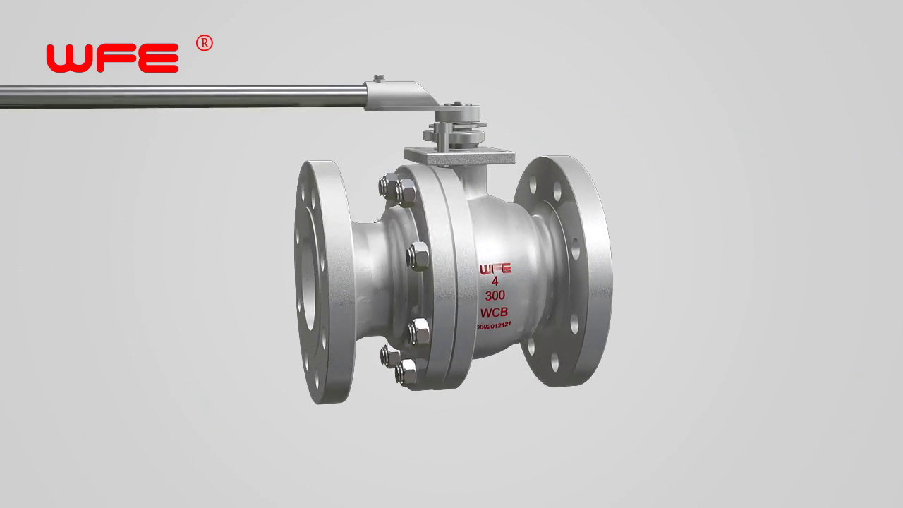 WFE Forged Steel Floating Ball Valves 3D Demonstration