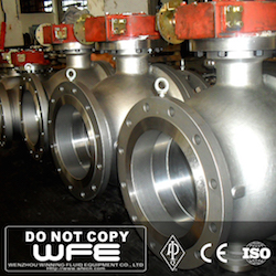 API Gear Flanged Cast Steel Ball Valve
