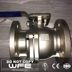 CF8 2 PC Floating Ball Valve