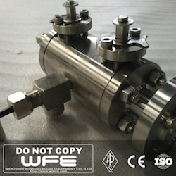 Double Block and Bleed Stainless Steel Ball Valve