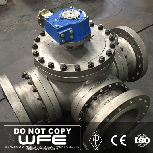 API LCC Flanged 3 Way Ball Valve