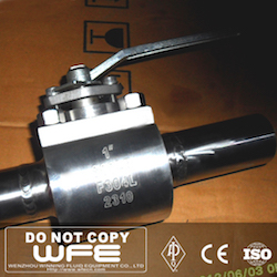 API F304L Stainless Steel Butt Welded Ball Valve