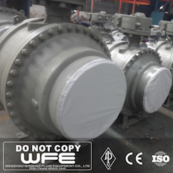 API Large Size Butt Welded Ball Valve