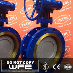 WCB Flanged Butterfly Valve