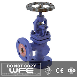 Flanged Angle Bellows Sealed Globe Valve