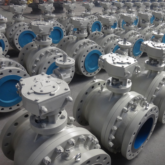 DIN Gear Flanged Carbon Steel Ball Valve