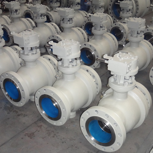 2 Pieces WCB Trunnion Mounted Ball Valve